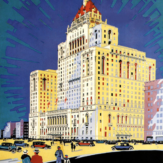 Detail Of Canadian Pacific Royal York Hotel Toronto 1929 | Best of Vintage Ad Art 1891-1970