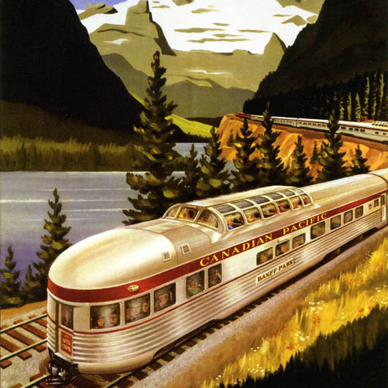 Detail Of Canadian Pacific ScenicDome Route Canada 1955 | Best of Vintage Ad Art 1891-1970