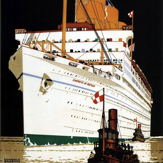 Detail Of Canadian Pacific To Canada USA 1933 | Best of Vintage Ad Art 1891-1970