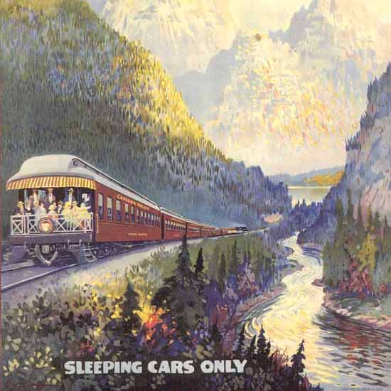 Detail Of Canadian Pacific Trans-Canada 1924 Continent | Best of Vintage Ad Art 1891-1970