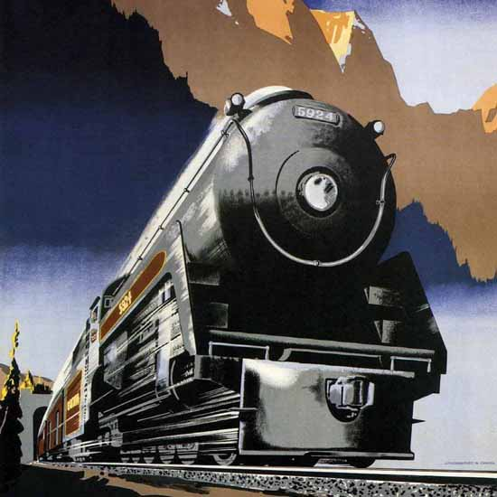 Detail Of Canadian Pacific Travel Across Canada 1947 | Best of 1940s Ad and Cover Art