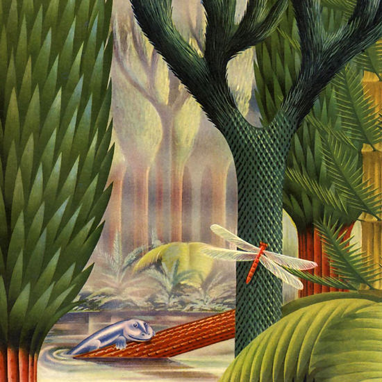 Detail Of Carbide And Carbon Chemicals Lost Forest 1940 | Best of Vintage Ad Art 1891-1970