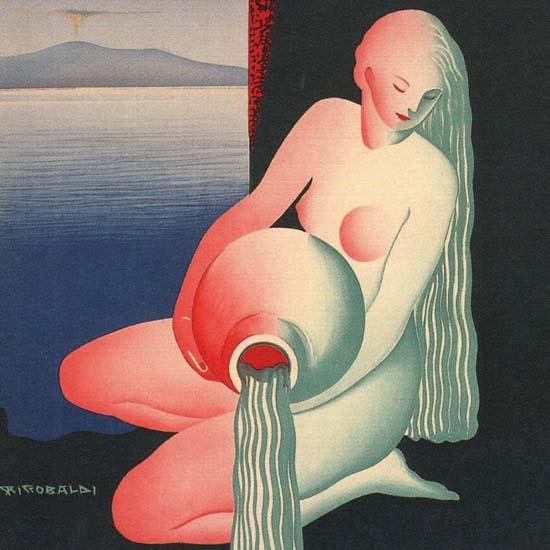 Detail Of Castellammare Di Stabia La Regina Delle Acque | Best of Vintage Ad Art 1891-1970