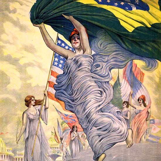 Detail Of Centenario Da Independencia Do Brasil 1922 Rio | Best of Vintage Ad Art 1891-1970