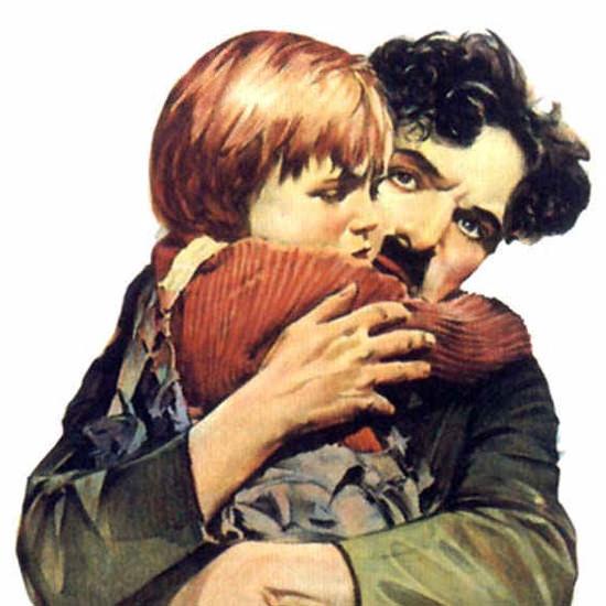Detail Of Charles Chaplin The Kid  Movie | Best of Vintage Ad Art 1891-1970