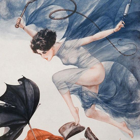 Detail Of Cheri Herouard La Vie Parisienne 1926 Mlle Bourrasque page   Best of Vintage Ad Art 1891-1970