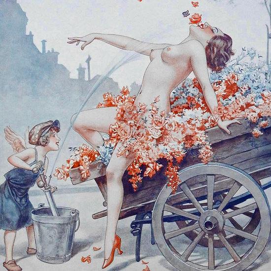 Detail Of Cheri Herouard La Vie Parisienne 1932 Epanouissement page | Best of 1930s Ad and Cover Art