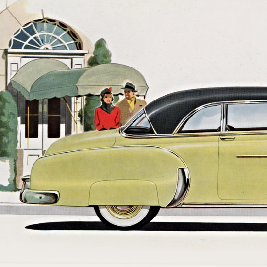 Detail Of Chevrolet Bel Air 1950 Moonlite Body B | Best of Vintage Ad Art 1891-1970