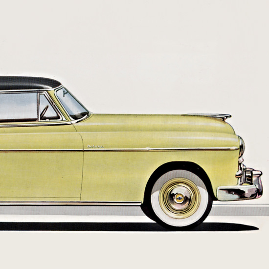 Detail Of Chevrolet Bel Air 1950 Moonlite Body | Best of Vintage Ad Art 1891-1970