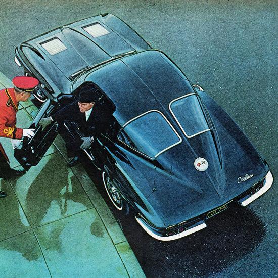 Detail Of Chevrolet Corvette 1963 Instant Celebrity | Best of Vintage Ad Art 1891-1970
