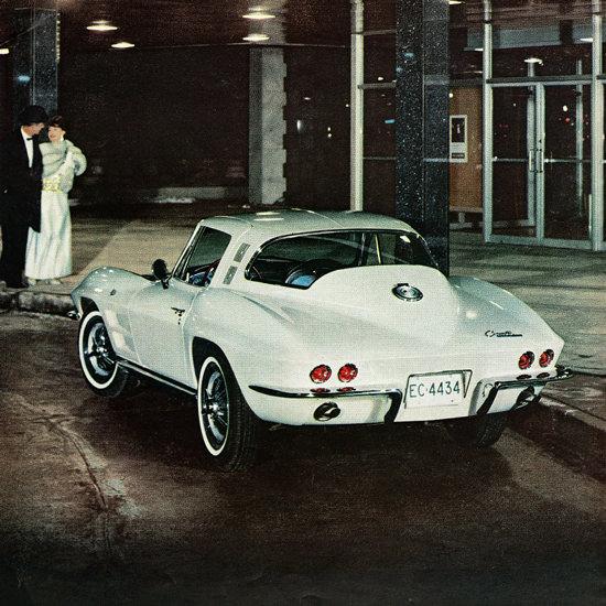 Detail Of Chevrolet Corvette 1964 Phantom Of The Opera | Best of Vintage Ad Art 1891-1970