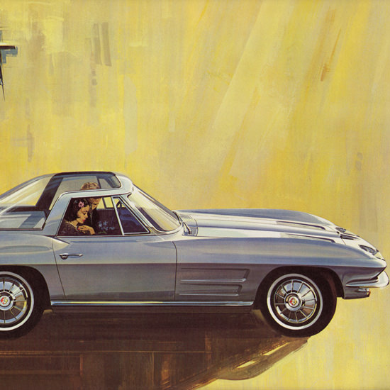 Detail Of Chevrolet Corvette Explorer II 1964 Rohm Haas | Best of Vintage Ad Art 1891-1970