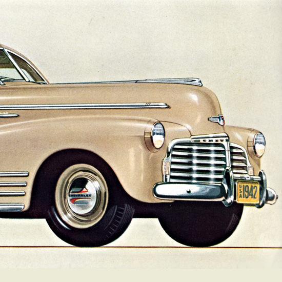 Detail Of Chevrolet Fleetline Aerosedan 1942 Fleetweave | Best of Vintage Ad Art 1891-1970