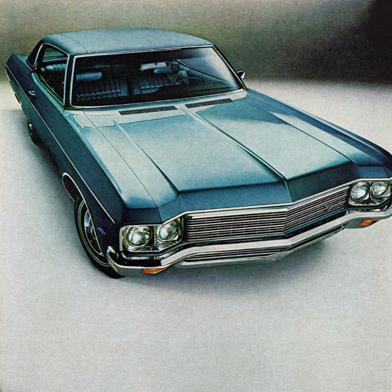Detail Of Chevrolet Impala Sport Coupe 1970 Maybe | Best of Vintage Ad Art 1891-1970