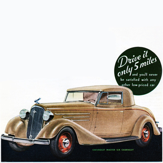 Detail Of Chevrolet Master Six Cabriolet 1934 Fisher Body | Best of Vintage Ad Art 1891-1970