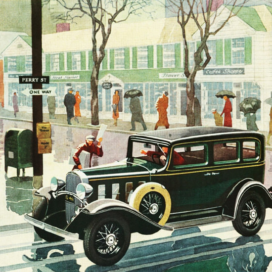Detail Of Chevrolet Special Sedan 1932 | Best of Vintage Ad Art 1891-1970