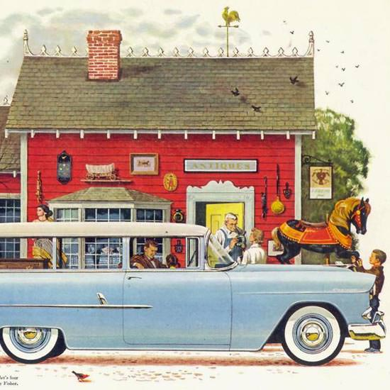 Detail Of Chevrolet Station Wagon Body By Fisher 1955 | Best of Vintage Ad Art 1891-1970
