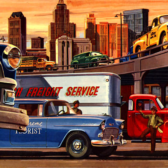 Detail Of Chevrolet Trucks City | Best of Vintage Ad Art 1891-1970