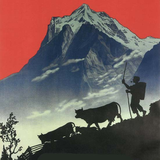 Detail Of Chocolat Klaus Switzerland Schweiz Suisse | Best of Vintage Ad Art 1891-1970