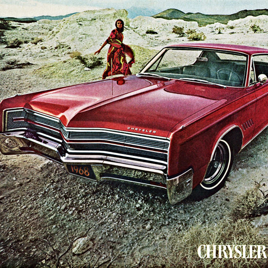 Detail Of Chrysler 300 1968 What Are You Waiting For | Best of Vintage Ad Art 1891-1970