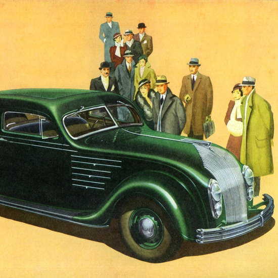 Detail Of Chrysler Airflow Eight Six P Brougham 1934 | Best of Vintage Ad Art 1891-1970