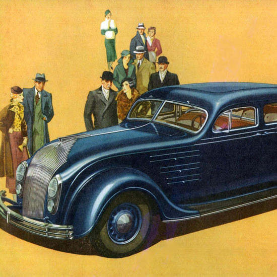 Detail Of Chrysler Airflow Eight Six P Town Sedan 1934 | Best of Vintage Ad Art 1891-1970