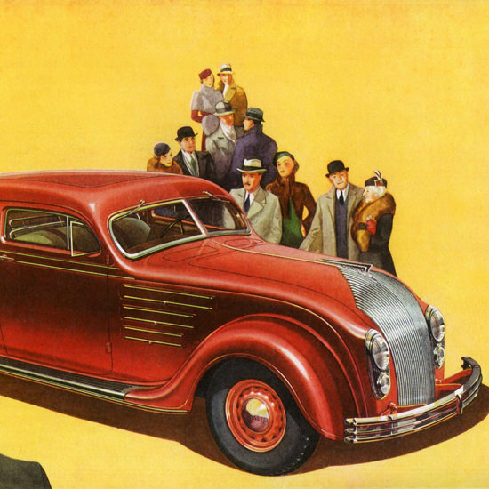 Detail Of Chrysler Airflow Imperial Coupe Five P 1934 | Best of Vintage Ad Art 1891-1970