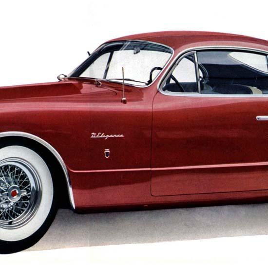 Detail Of Chrysler C-200 DElegance Exner B 1952 | Best of Vintage Ad Art 1891-1970
