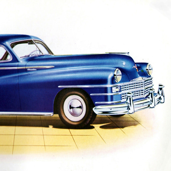 Detail Of Chrysler Club Coupe 1946 Royal Windsor | Best of Vintage Ad Art 1891-1970