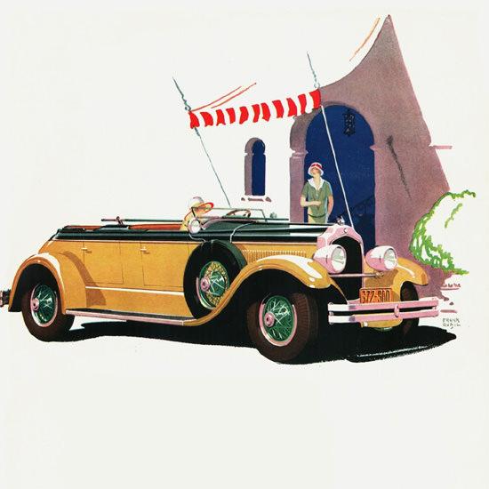 Detail Of Chrysler Imperial 80 Dual Cowl Phaeton 1927 | Best of Vintage Ad Art 1891-1970