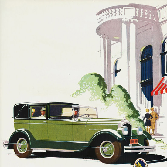 Detail Of Chrysler Imperial 80 Town Sedan 1927 | Best of Vintage Ad Art 1891-1970