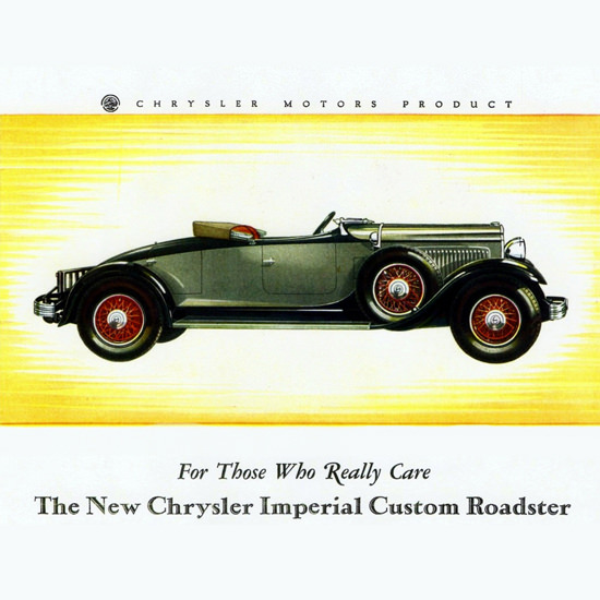 Detail Of Chrysler Imperial Custom Roadster 1929 | Best of 1920s Ad and Cover Art