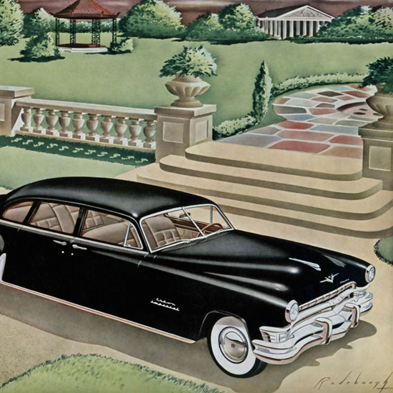 Detail Of Chrysler Imperial Eight Passenger Sedan Black | Best of Vintage Ad Art 1891-1970
