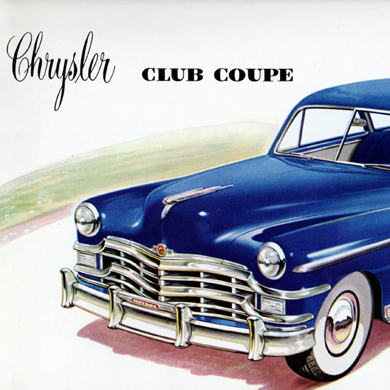 Detail Of Chrysler New Yorker Club Coupe 1949 | Best of Vintage Ad Art 1891-1970