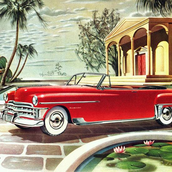 Detail Of Chrysler New Yorker Convertible 1950 | Best of Vintage Ad Art 1891-1970