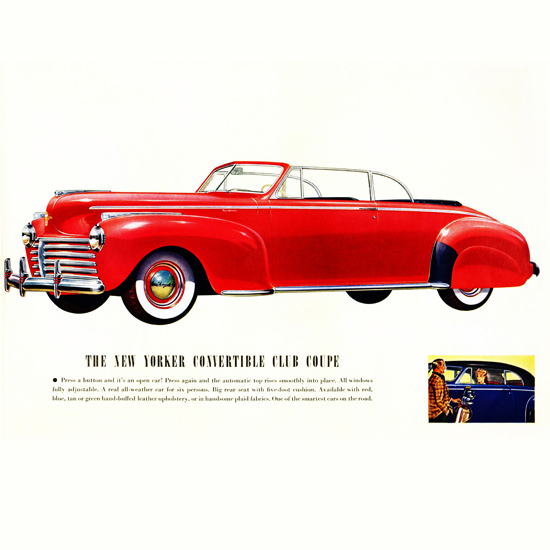 Detail Of Chrysler New Yorker Convertible Club 1941 B | Best of Vintage Ad Art 1891-1970