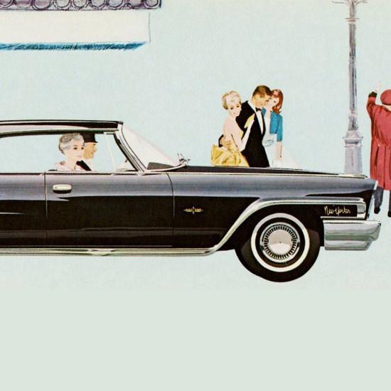 Detail Of Chrysler New Yorker Hardtop 1962   Best of Vintage Ad Art 1891-1970