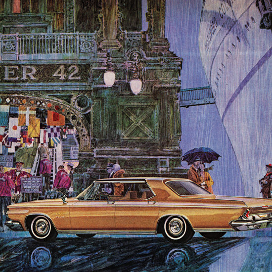 Detail Of Chrysler New Yorker Salon 1964 More Than A Rolls | Best of Vintage Ad Art 1891-1970