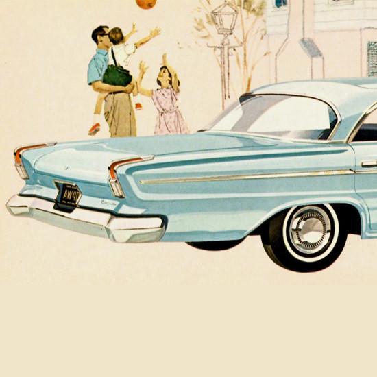 Detail Of Chrysler Newport Sedan 1962 Balloon | Best of Vintage Ad Art 1891-1970