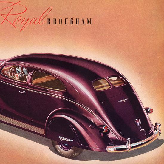 Detail Of Chrysler Royal Brougham 1938 Wide Doors | Best of Vintage Ad Art 1891-1970