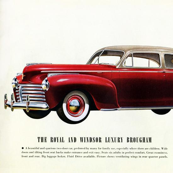 Detail Of Chrysler Royal Windsor Luxury Brougham 1941 | Best of Vintage Ad Art 1891-1970