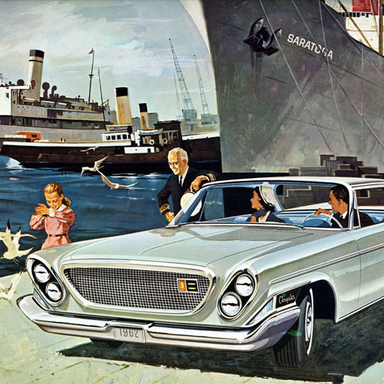 Detail Of Chrysler Saratoga 2 Door Hardtop Canada 1962 | Best of Vintage Ad Art 1891-1970