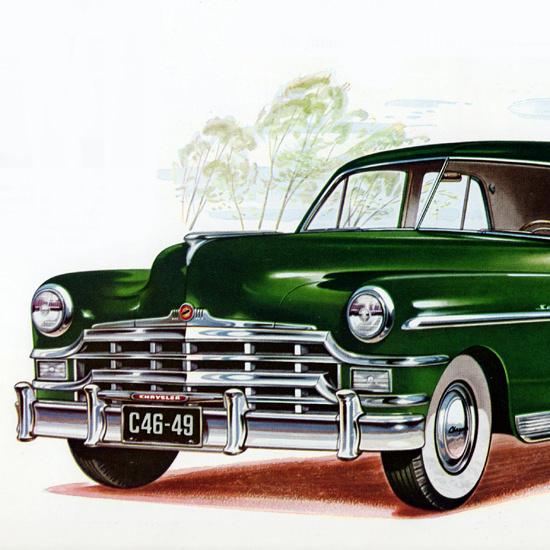 Detail Of Chrysler Saratoga Sedan 1949 Fine Possession   Best of Vintage Ad Art 1891-1970
