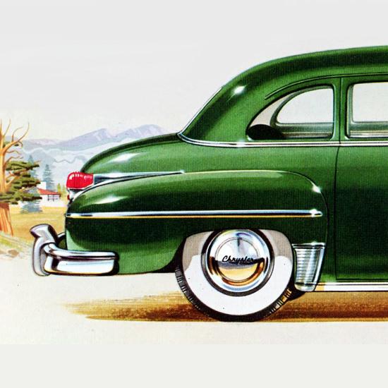 Detail Of Chrysler Windsor 8 P Limousine 1949 | Best of Vintage Ad Art 1891-1970