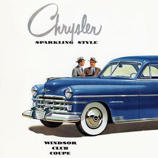 Detail Of Chrysler Windsor Club Coupe 1950 | Best of Vintage Ad Art 1891-1970