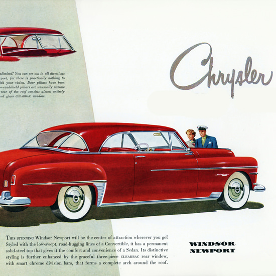 Detail Of Chrysler Windsor Newport 1950 | Best of Vintage Ad Art 1891-1970