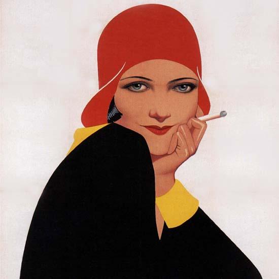 Detail Of Cigarettes Belga Girl Belgium | Best of Vintage Ad Art 1891-1970