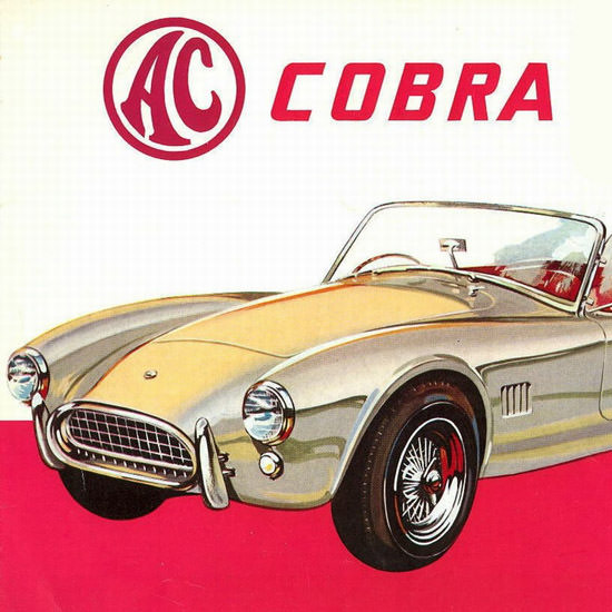 Detail AC Cobra 1962 by Carroll Shelby With Ford V8 Engine | Best of Vintage Ad Art 1891-1970