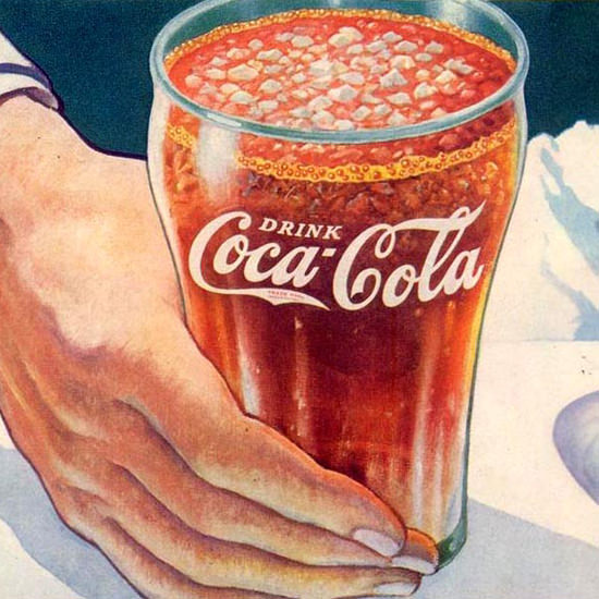Detail Of Coca-Cola At The Soda Fountain 1937 | Best of 1930s Ad and Cover Art