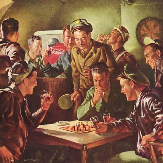 Detail Of Coca-Cola Checkmate Pardner Have A Coke 1945 | Best of Vintage Ad Art 1891-1970